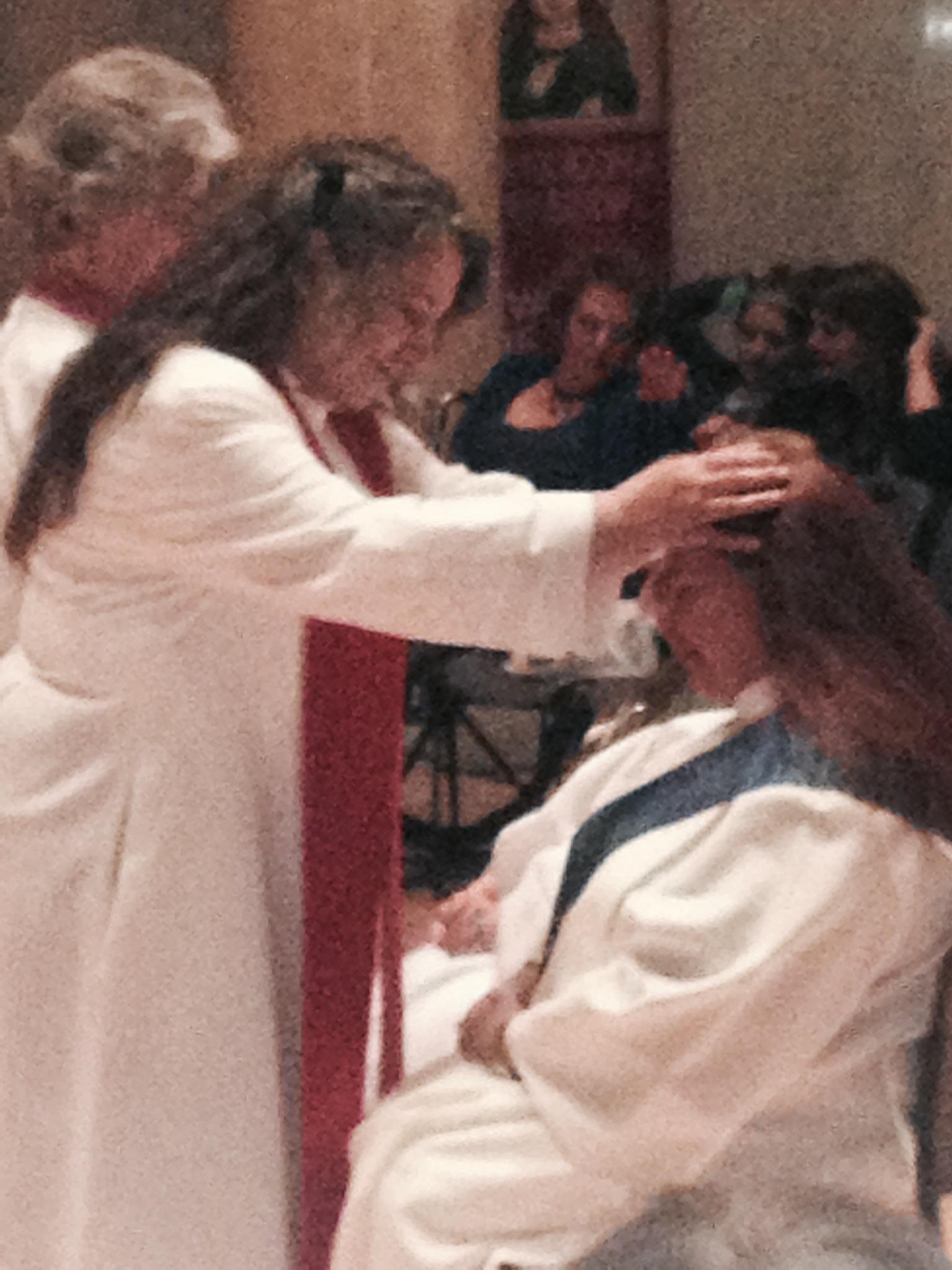 Gabriella blesses Alexandra