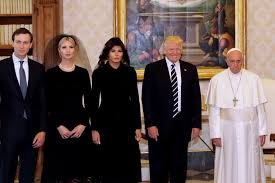 Trump entourage at Vatican