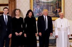 Trump entourage at Vatican